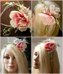 Sequin Peony Couture Headband by TheRealLittleMermaid