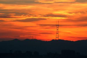 Tower Amongst the Sunset by thevictor2225