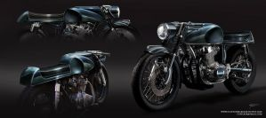 Cafe Racer Tank Designs by cgfelker