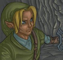 Link in the Caverns by zak29