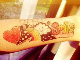 Smile! Faux Tattoo :) by Demachic