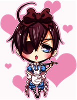 Ciel in Wonderland Chibi by SoyUnGnomo
