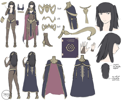 FE:A - Tharja Reference Sheet by DragonBladerX