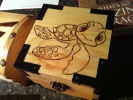 Squirt Finding Nemo wood burning by bonniea423