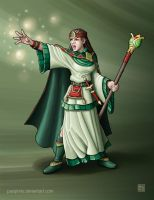 Greenhold Sorceress by Pasiphilo