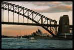 Sydney Harbour sunset 1 by wildplaces