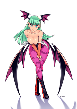 Morrigan Taunting by OptionalTypo