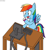 Rainbow Dash Browsing Fanfics by CTOONfan1