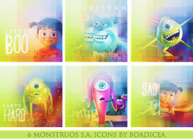 Monstruos SA Icons by Boadiceakiss
