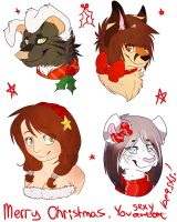 Christmas Head shots by coffaefox