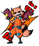 raccoon rocket by shimyrk