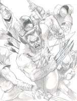 Wolverine commission work by DW Miller by ConceptsByMiller