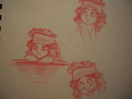 Young Jack Sparrow Sketches by wolf-pirate55