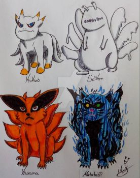 My Fav Tailed Beasts by Icemonkey29