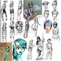 2013 summer sketchdump by ForeverSoaring