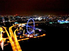 Singapore Flyer (Night) by shrouded-tears