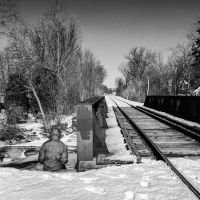 Man by the Tracks by jonniedee