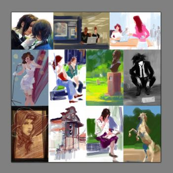 iPod Touch Sketches by zhuzhu