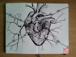Moleskine Doodle-Access to my hearth by Radical1981