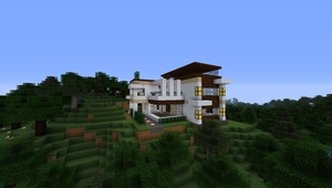 Hilltop retreat (Modern Home - Minecraft) by NiegelvonWolf