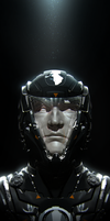 self portrait in helmet by MathiasZamecki