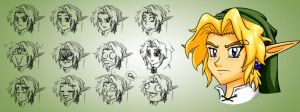 LoZ:S Link Expressions Concept by somedudefromEARTH