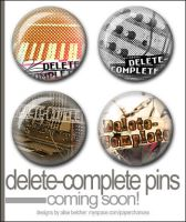 Delete-Complete Pin Set by Two-Players