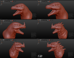 Rage ( sculpt process ) by The-KaijuEnthusiast