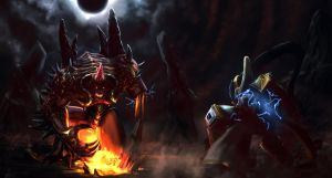 Diablo vs Tassadar by Konnee