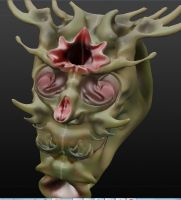 face creature by Alevice