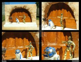 Diorama: Jabba Palace Entrance 4 Images by Coscomomo