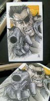 Nick Fury Sketch Card by rehAlone