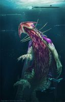Fringehead on the Hunt by TheDragonofDoom