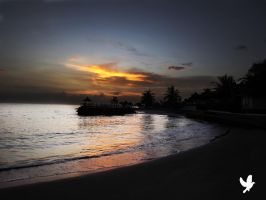 Jamaica Runway Bay Sun Rise by dancpicturez