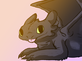 Toothless by LyricaBelachium