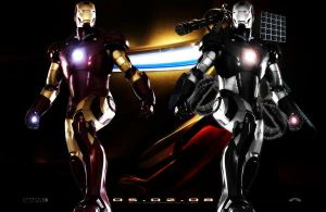Iron Man and War Machine by zulu94