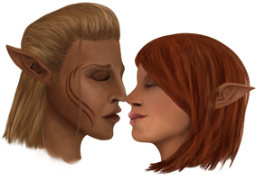 Elven Kiss by Cadkinn