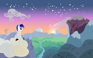 Lazy Wing watches sunset by LazyPixel