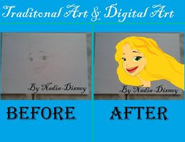 Rapunzel Before/After by Nadia-Disney