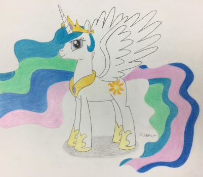 Princess Celestia Colored Pencils by MLPpencilArt