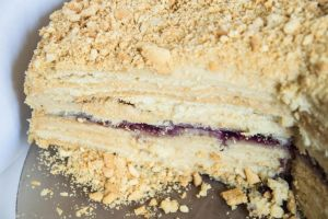 Napoleon Cake with Jam by cookpasse