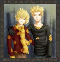 -KH2- Happy Halloween HxR by GawainesAngel