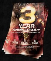 Anniversary Party Flyer -Psd by squizmo
