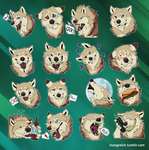 Telegram Stickers- Kahea by Mongrelistic