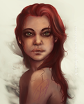 red-haired girl-like Mermaid by ymymy