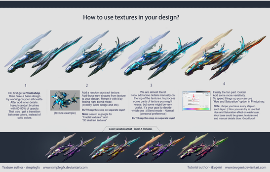 How to use textures in your design tutorial by iEvgeni