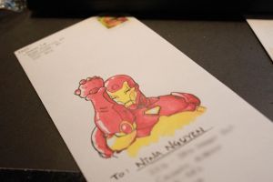 Iron Man in your Mail Box by Jeison-ree