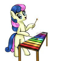 Ponies With Instruments #6 - Bonbon by FinalAspex