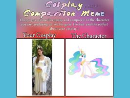 Cosplay Comparison Meme by Oceanblue-Art