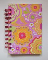 Flower Patterned Spiral Notebook by SkillfulCreations
